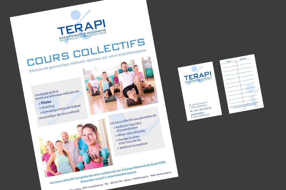 Affiche et carte de visite Terapi