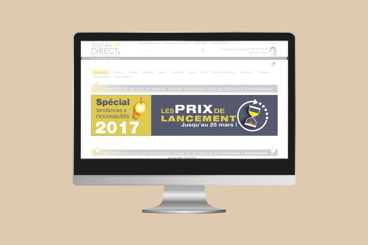 Bannière web Tout En Direct lancement